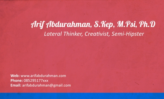 namecard arif abdurahman