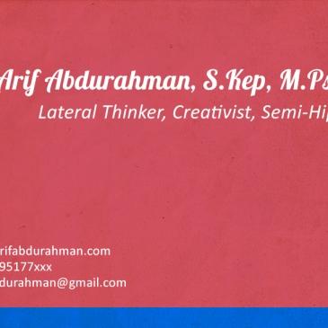 Arif Abdurahman, S.Kep, M.Psi, Ph.D