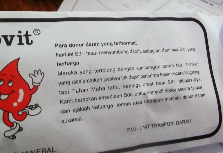 hadiah donor darah