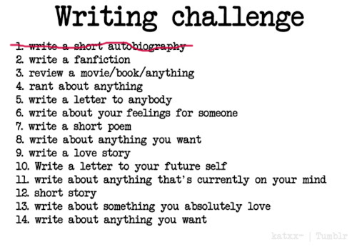 writing challenge 1
