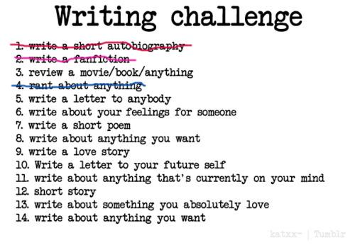 writing challenge 3