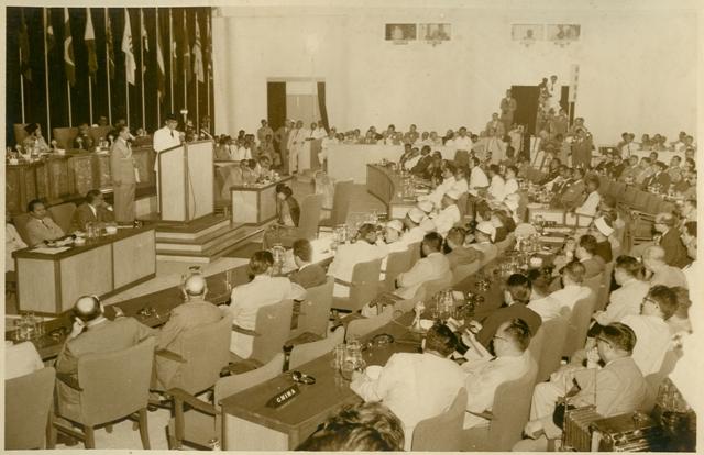 Ruang utama Gedung Merdeka pas KAA 1955