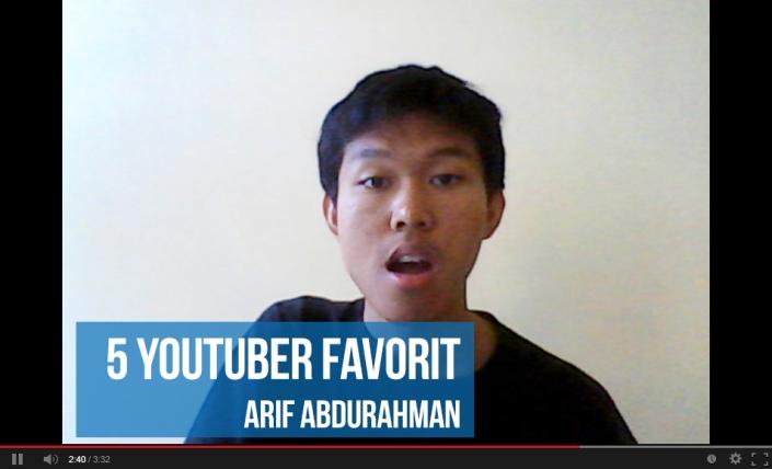 5 youtuber favorit arip