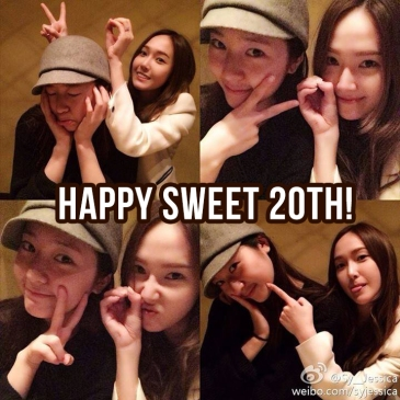happy sweet 20th jessica snsd krystal fx