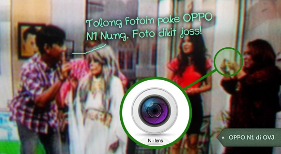 Andre sama Mpok Nori lagi foto couple pake OPPO N1.