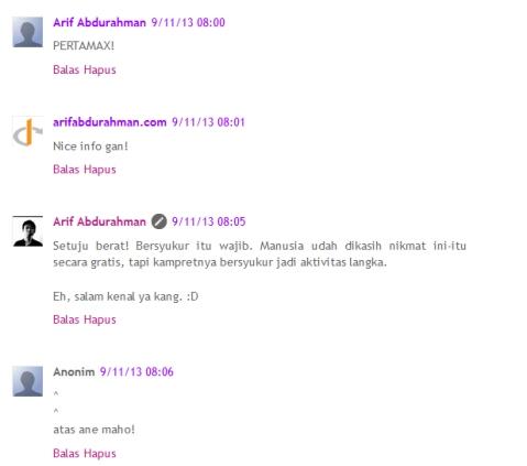 komentar di blogspot