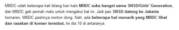mbdc suka snsd