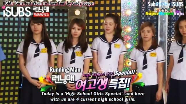 running man 55 high school girl special