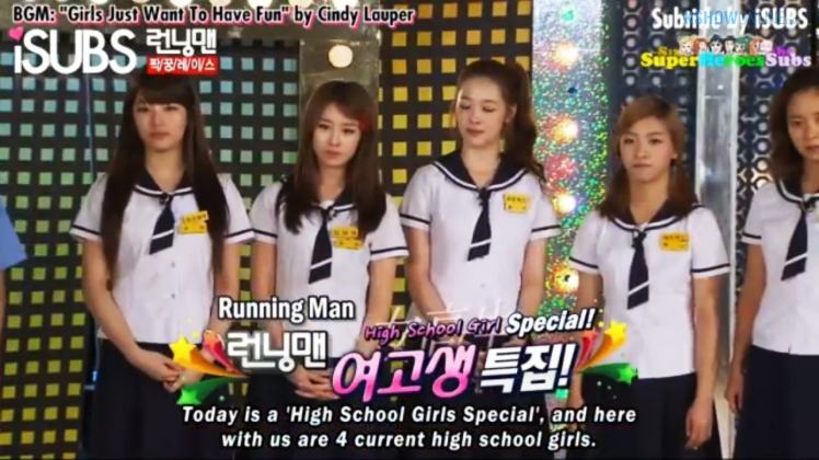 running man 55 high school girl special