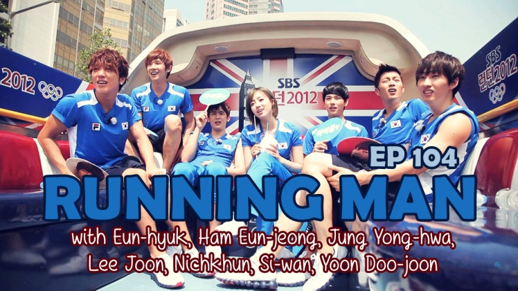 running man ep 104 olympic 2012