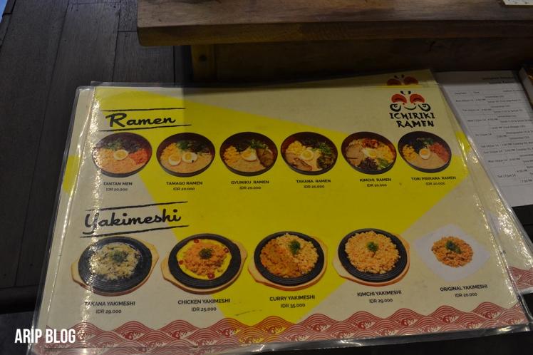 menu ichiriki ramen 2