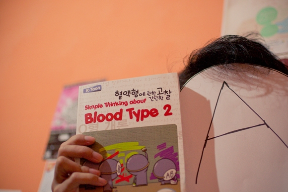selfie with blood type