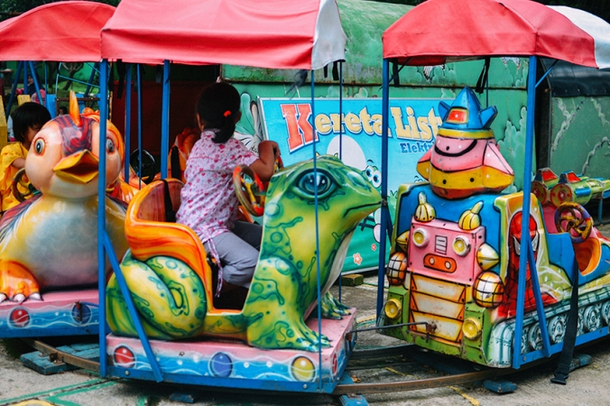 taman lalu lintas warna warni