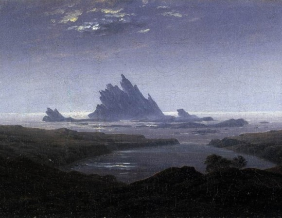 friedrich caspar david rocky reef on the sea shore