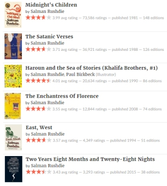 salman rushdie books