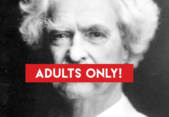 Mark Twain R-Rated censor red