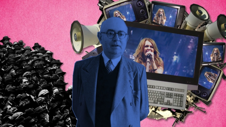Theodor Adorno pop culture photomontage