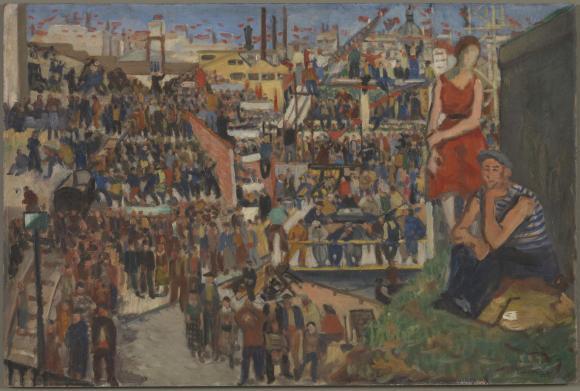 The Strikes of June 1936 1936 by Boris Taslitzky 1911-2005
